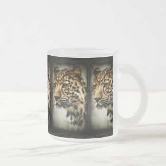 cheetah-79254 WILD ANIMALS STUNNING cheetah huntin Frosted Glass Coffee Mug