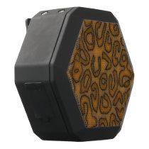 Cheetah Abstract Pattern Black Bluetooth Speaker