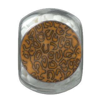 Cheetah Abstract Pattern Jelly Belly Candy Jars