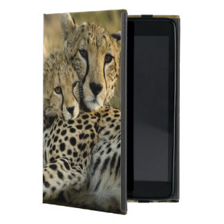 Cheetah, Acinonyx jubatus, with cub in the Masai 2 Case For iPad Mini