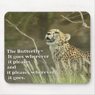 CHEETAH AND BUTTERFLY MOUSEPAD