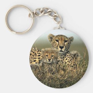Cheetah and Cub Keychain