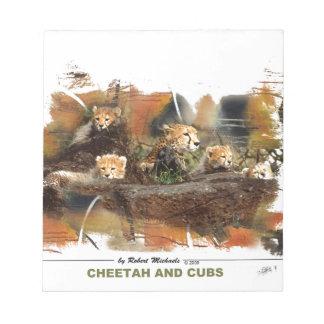 Cheetah and Cubs  Notepad