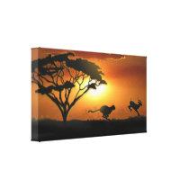Cheetah and Gazelle Canvas Print
