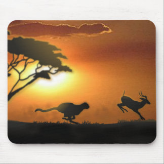 Cheetah and Gazelle mouse pad