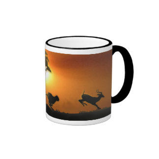 Cheetah and Gazelle Ringer Mug