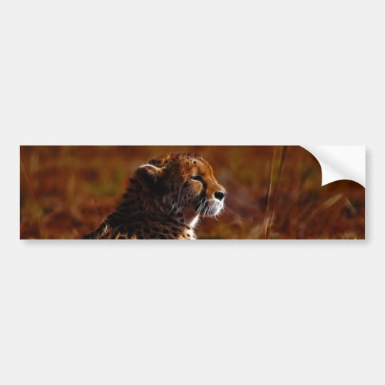 Cheetah and God Bumper Sticker