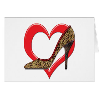 Cheetah and Studded Heels Pumps Card