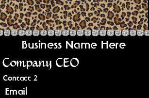 Animal print business cards arts arts animal print business cards zazzle reheart Image collections