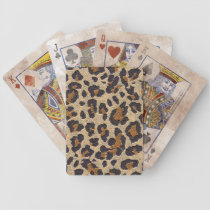 Cheetah Animal Print Playing Cards