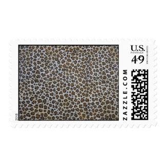 cheetah animal print postage stamp