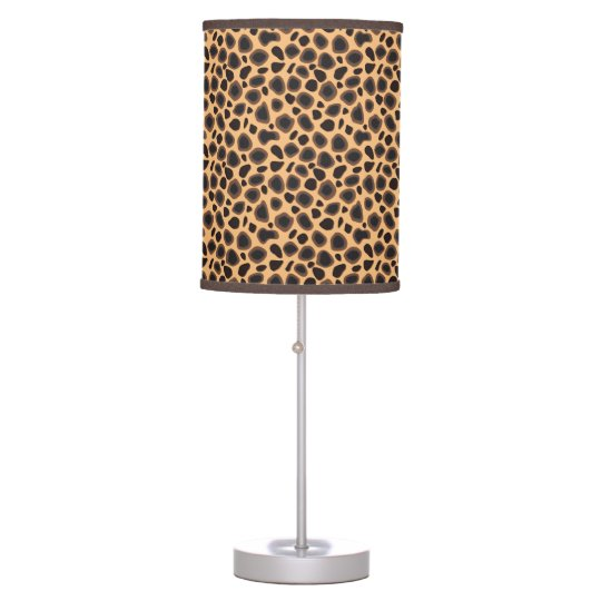Cheetah Animal Print Table Lamp Zazzle Com