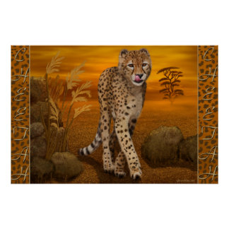 'Cheetah' Art Poster