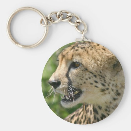 Cheetah Attack Keychain