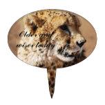 Cheetah beauty with fangs cake picks