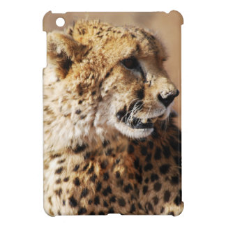 Cheetah beauty with fangs iPad mini case