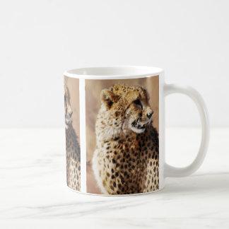 Cheetah beauty with fangs classic white coffee mug