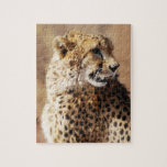Cheetah beauty with fangs puzzle