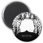 Cheetah Big Cat Art Deco Style Magnets