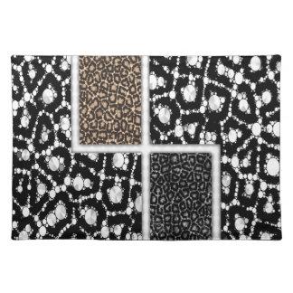 Cheetah Bling Abstract Cloth Place Mat