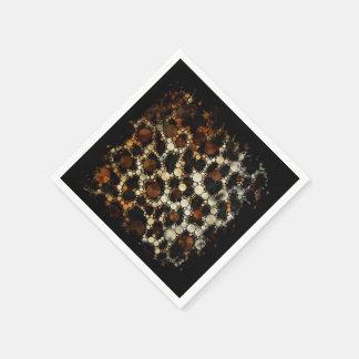 Cheetah Bling Grunge Standard Cocktail Napkin
