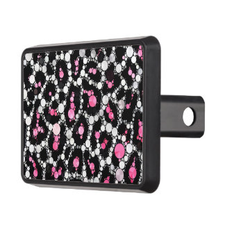 Cheetah Bling Pink&Blk Hitch Cover