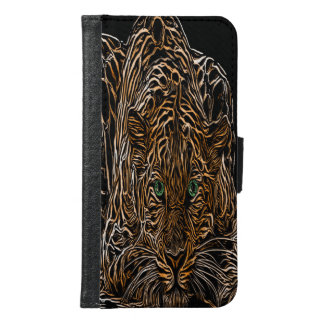 Cheetah Burnt Wood Effect named Legaya Wallet Phone Case For Samsung Galaxy S6