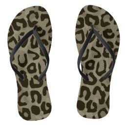 Cheetah Camouflage Flip Flops