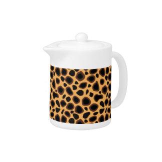 Cheetah Camouflage Pattern Teapot