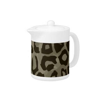 Cheetah Camouflage Teapot