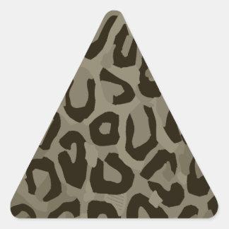 Cheetah Camouflage Triangle Sticker