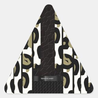 Cheetah Camouflage Unique Pattern Triangle Sticker