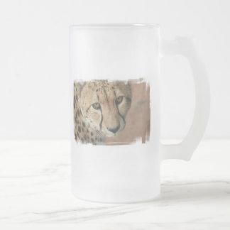 Cheetah Cat Beer Mug