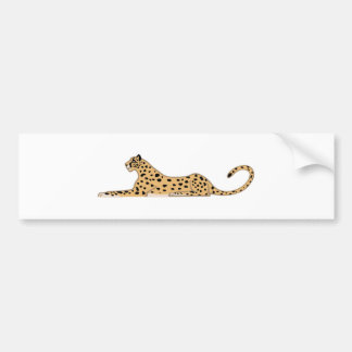 Cheetah Cat Lying Down from the Side Bumper Sticker