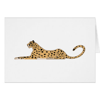 Cheetah Cat Lying Down from the Side Card