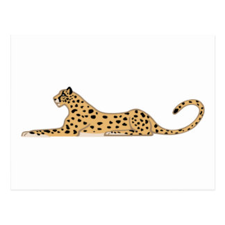Cheetah Cat Lying Down from the Side Postcard