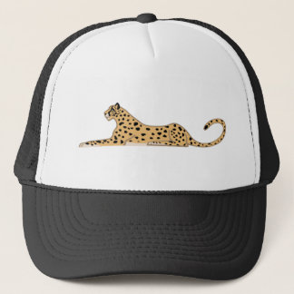 Cheetah Cat Lying Down from the Side Trucker Hat