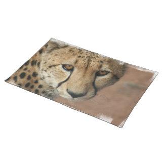 Cheetah Cat  Placemat Cloth Place Mat