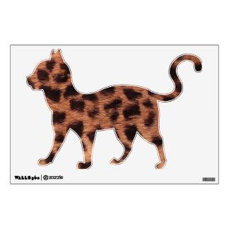 Cheetah Cat Wall Decal