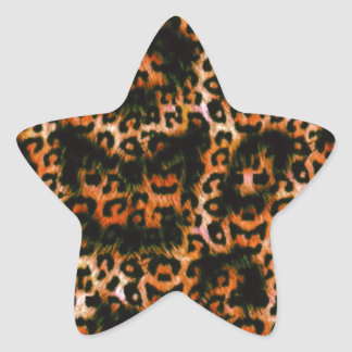 Cheetah Cheetah Pop Art design Star Sticker