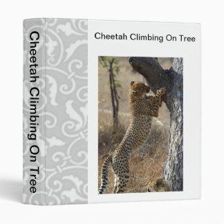 Cheetah Climbing On Tree 3 Ring Binder