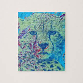 Cheetah,coloful version jigsaw puzzle