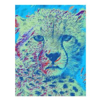 Cheetah,coloful version customized letterhead