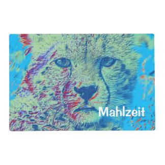 Cheetah colorful version laminated place mat