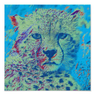 Cheetah colorful version poster