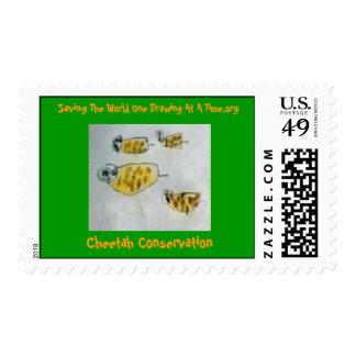 Cheetah Conservation Postage Stamp