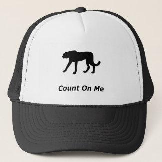 Cheetah Count On Me Trucker Hat