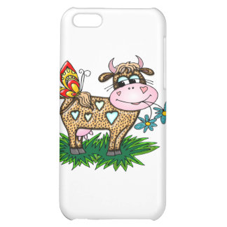 Cheetah Cow & Butterfly iPhone 5C Case