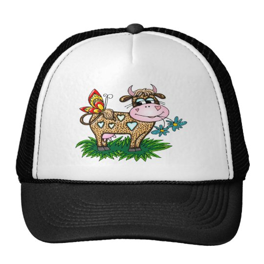 Cheetah Cow & Butterfly Trucker Hat