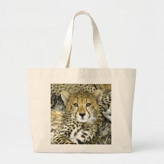 Cheetah Cub 2 Tote Bags